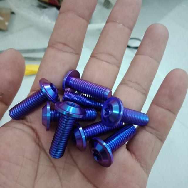 (GR5 XỊN LOẠI 1) ốc titanium 8li25 gắn đĩa xe máy các