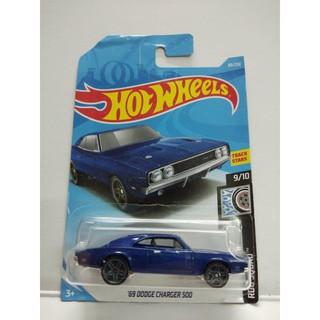 Xe Mô Hình Chính Hãng HotWheels – 69 Dodge Charger 500