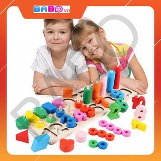 [FollowShop giảm 5%] Bộ Học Số Đếm Và Chữ Cái Đa Năng Theo Phương Pháp Montessori – TG08