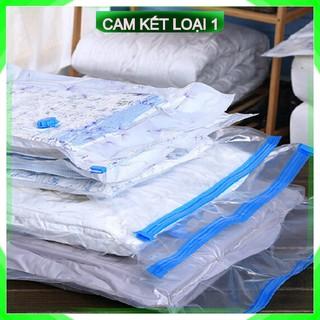 [FreeShip – Nhập Khẩu] (Tặng bơm) – 8 Túi hút chân không đựng chăn mền quần áo tiện lợi du lịch bảo quản luôn sạch sẽ