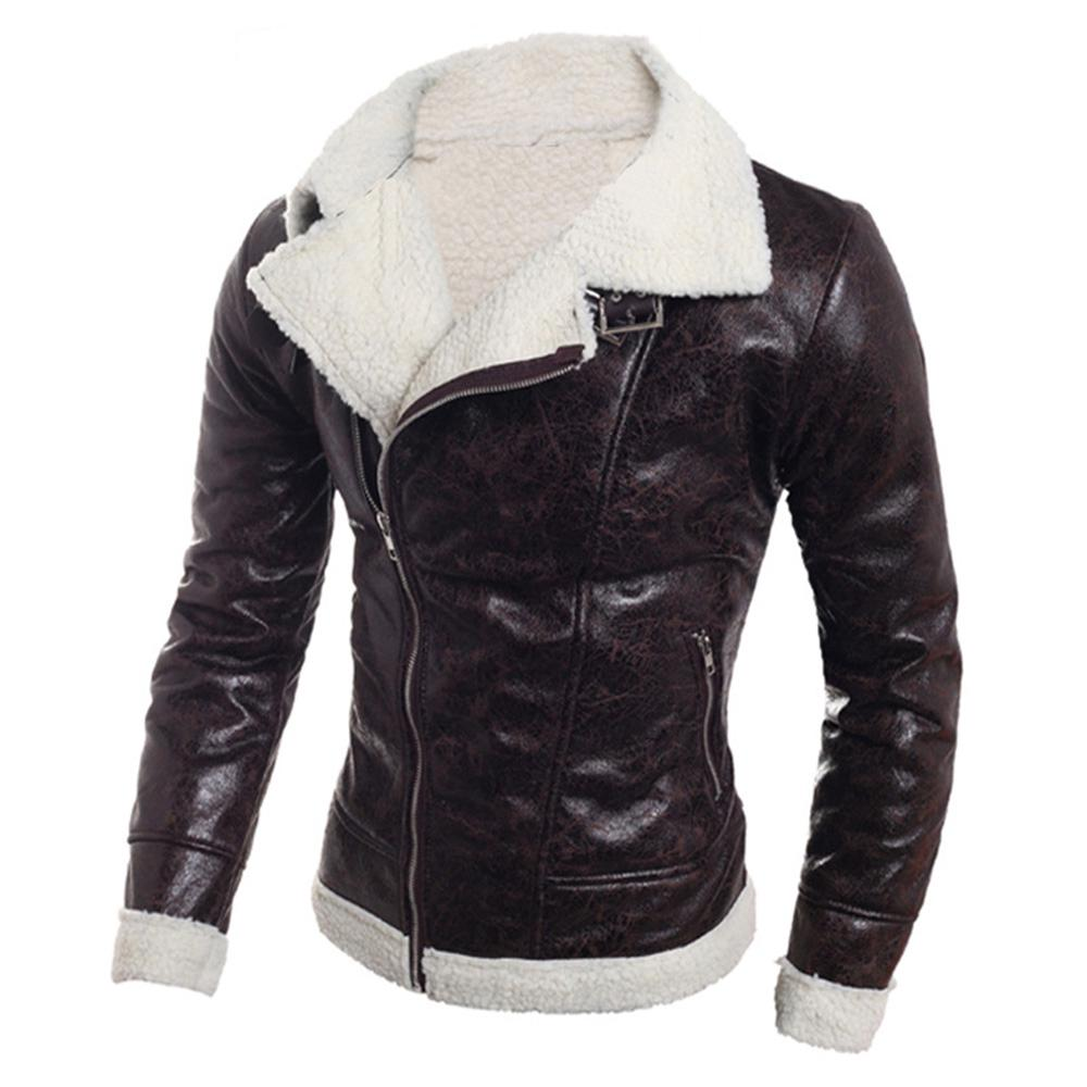 Coat Leather Jacket Zipper Men Fashion