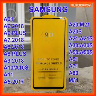 """Kính Cường Lực SamSung Full Màn 9D Galaxy A12,A6,A7,A9 2018,A10,A10S,A11,A20,A20s,A21S,A30,A31,A50,A51,A70,A71,M51 [9D] giá chỉ còn <strong class=""""price"""">800.000.000đ</strong>"""