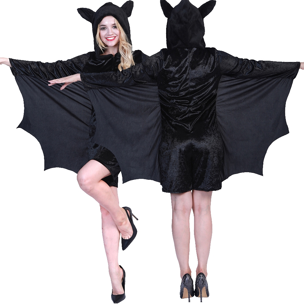 Women For Dress-up Bat Costume Party Cosplay Holiday Hooded Jumpsuit Halloween Masquerade Imagination Stimulation