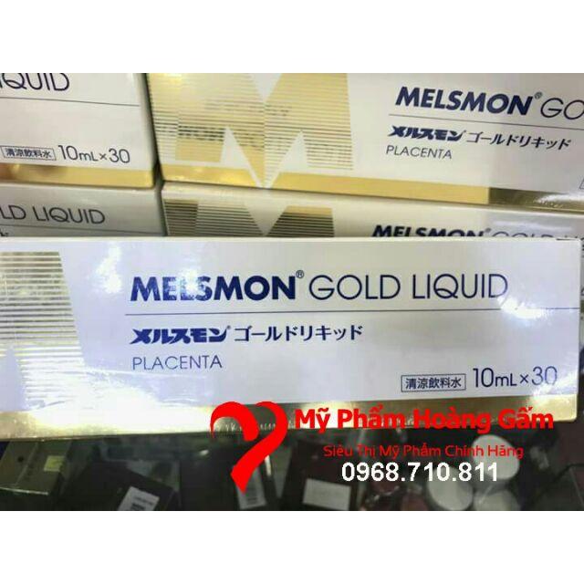 Nước Uống Nhau Thai Ngựa Melsmon Gold Liquid 30 ống Nhật Bản