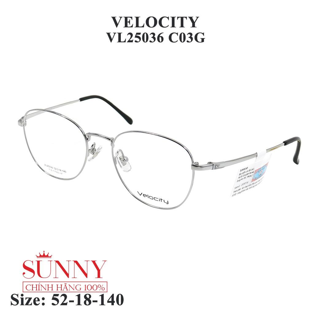 VL25036 – gọng kính kim loại Velocity chính hãng, bảo hành toàn quốc