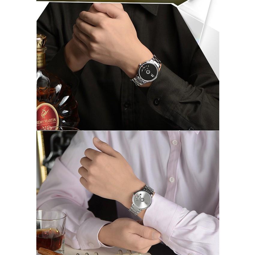 Đồng hồ nam NARY N633 dây thép không gỉ cao cấp _2 màu thời trang