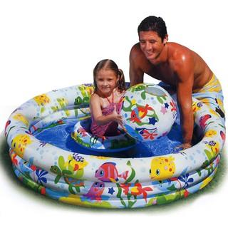 Bộ ba phao bơi + bóng bơi + bể bơi IntexKA001 dành cho bé cưng