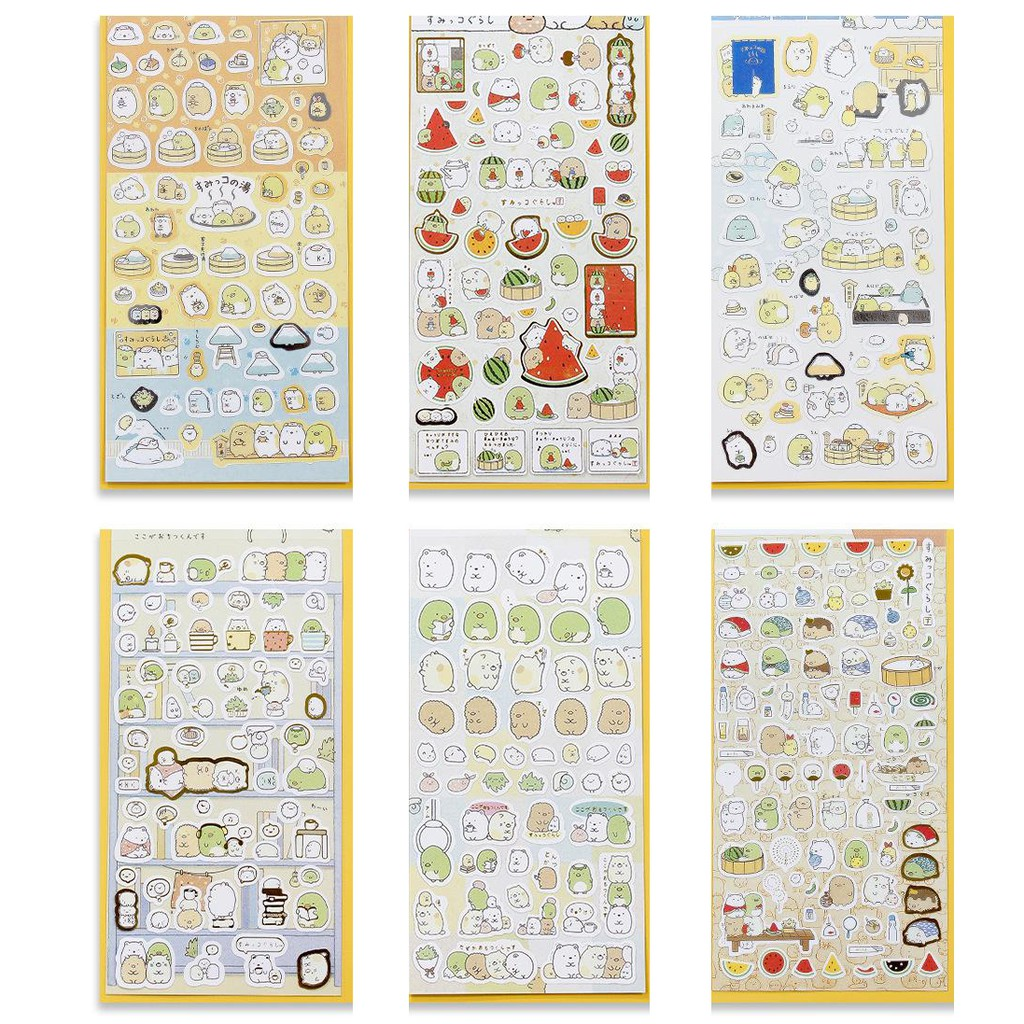 S1 sticker trang trí dán sổ dán điện thoại sticker dễ thương sticker sumikko