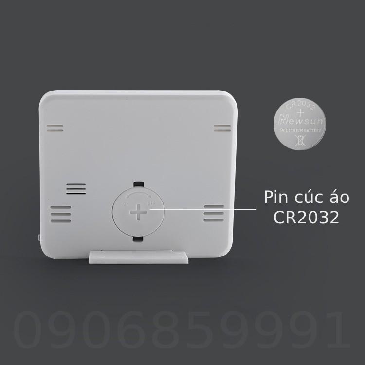 Đồng hồ dán tường,đồ hồ để bàn hiển thị độ ẩm và nhiệt độ (PD-WDJ-01)
