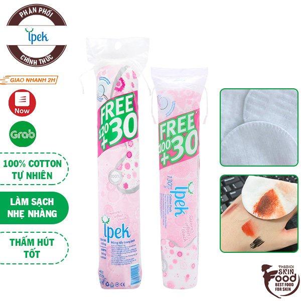 [Mã SKAMPUSH10 giảm 10% đơn 200K] Bông Tẩy Trang Ipek Klasik Cotton Pads (80 miếng - 150 miếng)