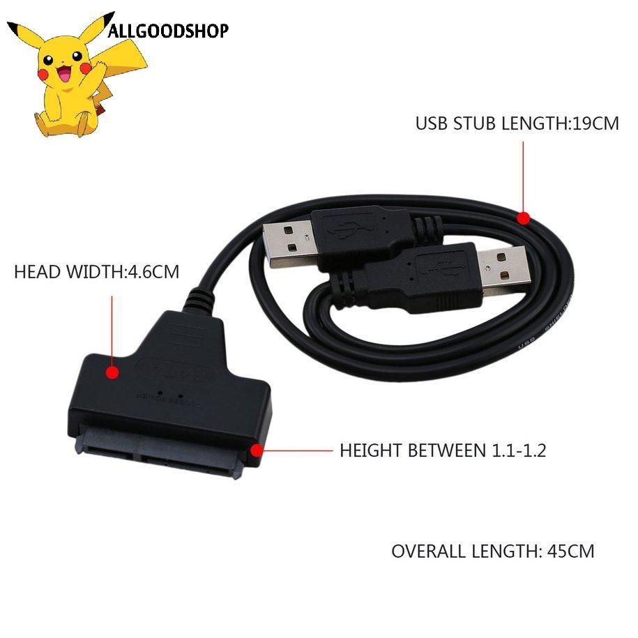 Dây cáp chuyển đổi USB 2.0 to 2.5inch 22Pin 7+15 ATA SATA 2.0 HDD/SSD chuyên dụng