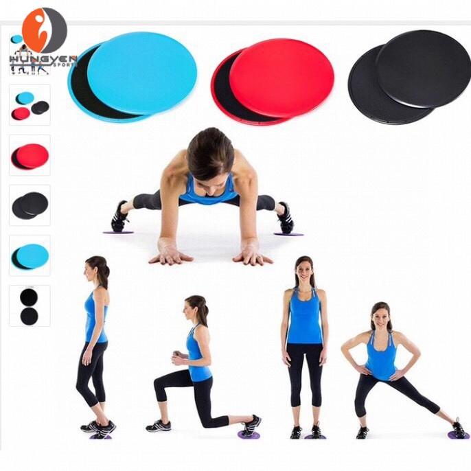 Đĩa trượt tập yoga, gym, pilates - Dụng cụ tập thể dục giúp cơ thể luôn săn chắc và khỏe khắn Hùng Yến Sport