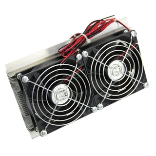 ★Line♣1PC Thermoelectric Peltier Refrigeration Cooling System Kit Cooler Double Fan