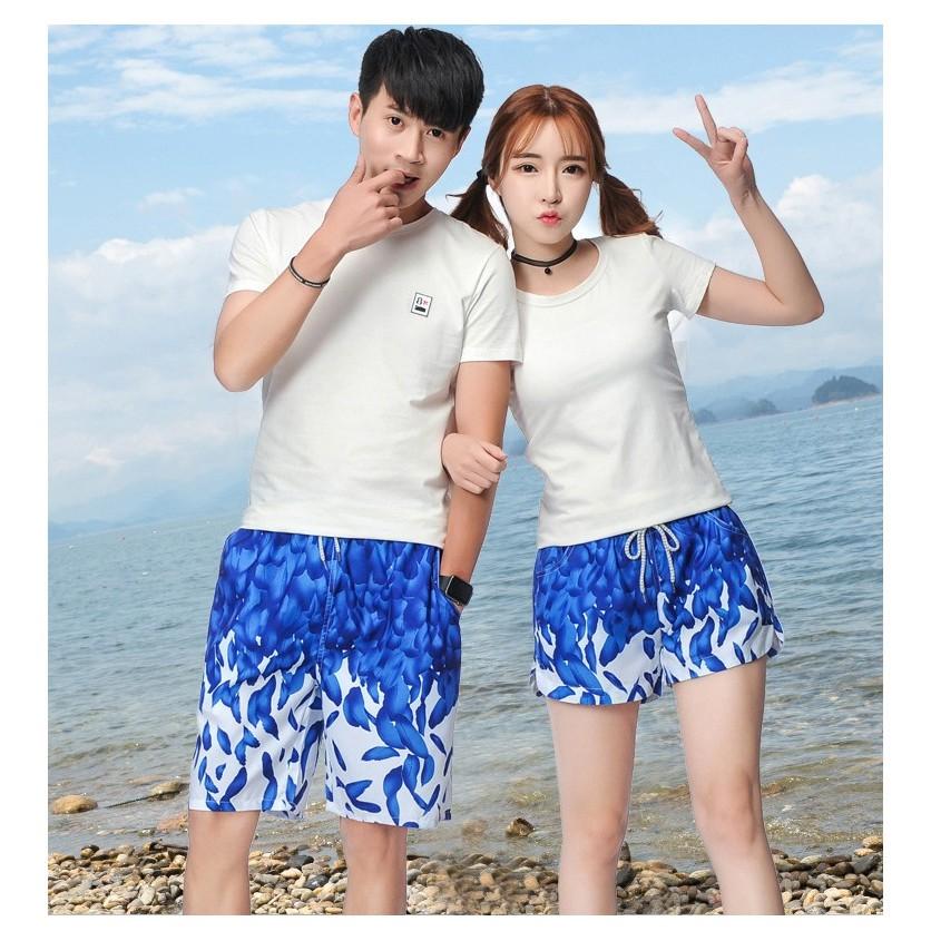 Quần đi biển nam nữ, quần đi biển đôi