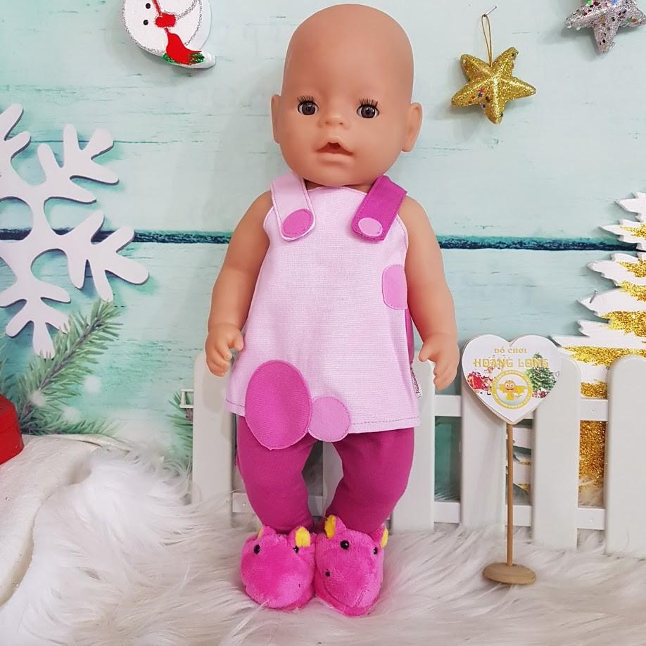 Bộ quần áo dành cho búp bê Animator, Trudi 40cm, Zapf 41cm Yếm hồng - 3531107 , 858831927 , 322_858831927 , 45000 , Bo-quan-ao-danh-cho-bup-be-Animator-Trudi-40cm-Zapf-41cm-Yem-hong-322_858831927 , shopee.vn , Bộ quần áo dành cho búp bê Animator, Trudi 40cm, Zapf 41cm Yếm hồng