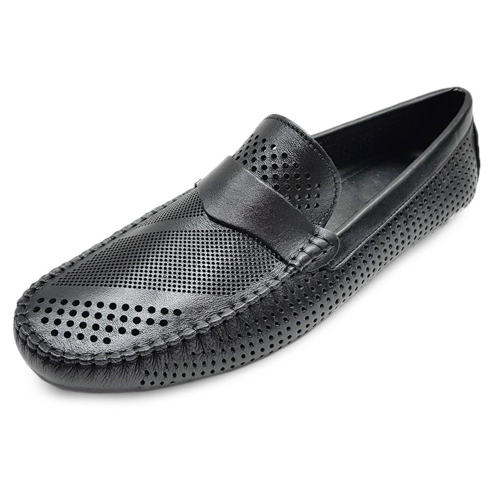 Giày Mùa Hè Nam Da Bò Giày Sandal Nam Cao Cấp Ensado MH01MC (Đen)