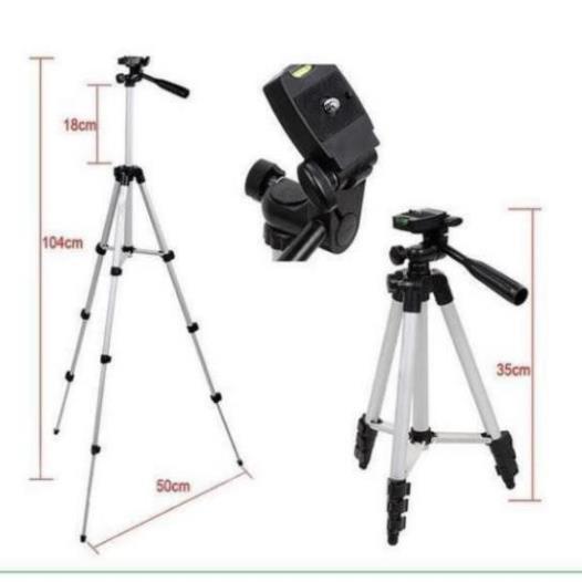 Chân máy ảnh Tripod 3110 tặng Giá kẹp điện thoại, Remote bluetooth và Túi đựng Chính Hãng [vthm9]