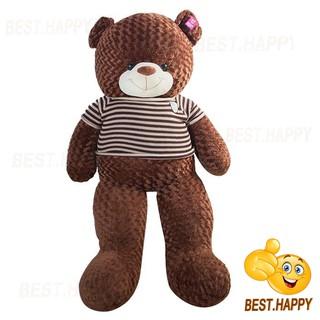 Gấu teddy áo len khổ vải 1m8 (cao thật 1m6)