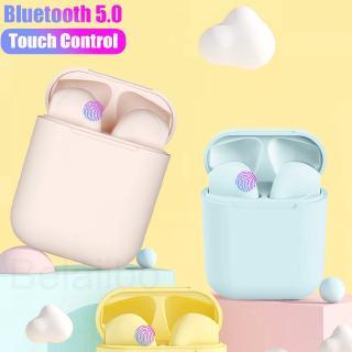 2019 Original Macaron 12 tws in earphone Bluetooth 5.0 Wireless headphone Touch Pop-up sport earpiece headest for iPhone