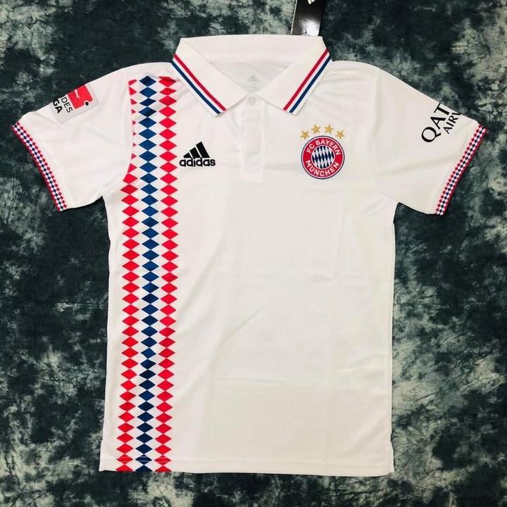 Áo Bóng Đá Đẹp Và Độc  FREESHIP  Áo Polo Nam Bayern Munich 2021 PP bởi Be Happy Sport