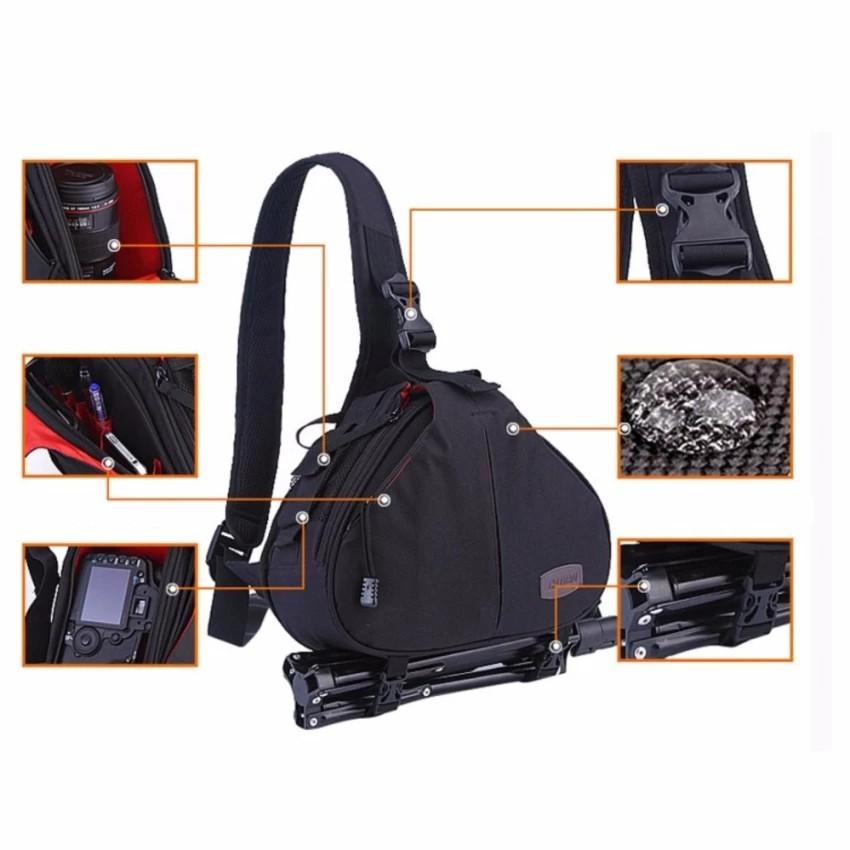 Túi đeo chéo vai đựng máy ảnh chất liệu cao cấp + Túi chống thấm, POPO Sport
