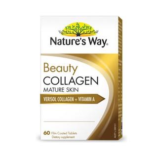 Viên uống collagen dành do da lão hóa Nature s Way Beauty Collagen Mature Skin 60 Viên thumbnail