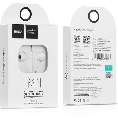 Tai nghe nhét tai Hoco M1 dùng cho nhiều dòng máy có chân jack cắm 3.5mm