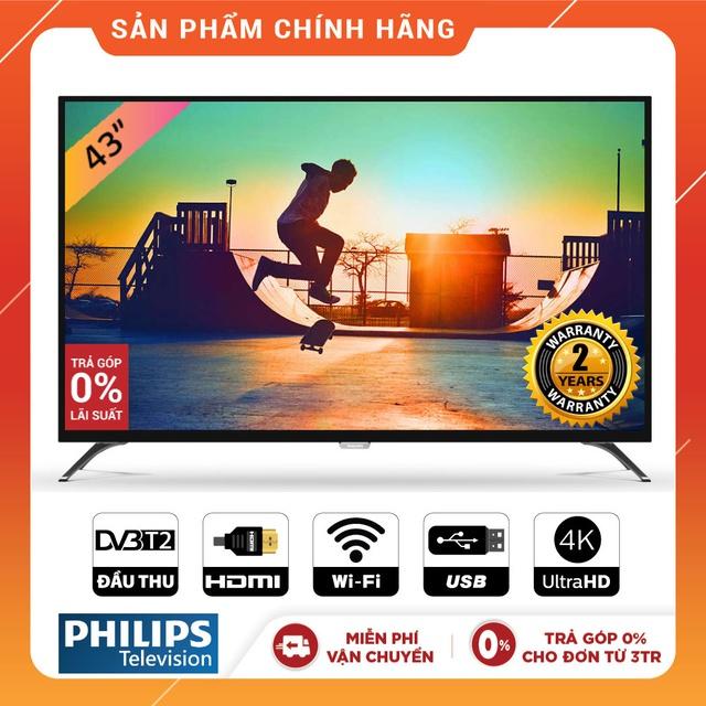 Smart Tivi Philips 43 inch UHD 4K- 43PUT6002S/67 (Chính Hãng Phân Phối)
