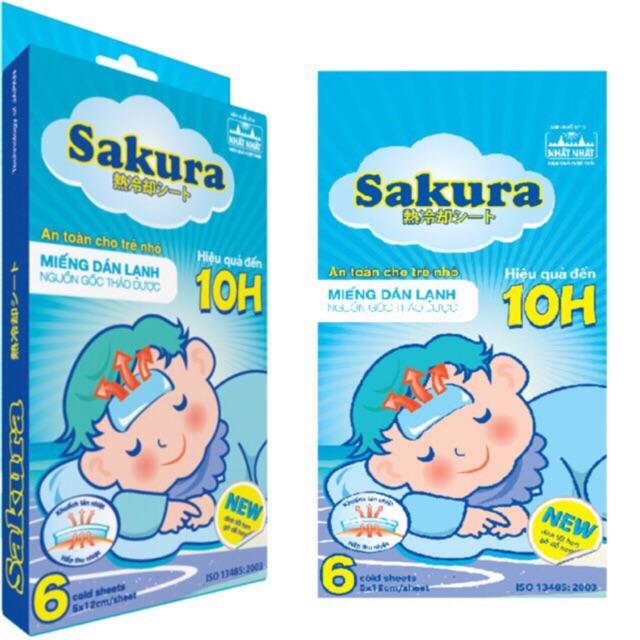 Miếng dán hạ sốt Sakura - 21633388 , 2218877870 , 322_2218877870 , 50000 , Mieng-dan-ha-sot-Sakura-322_2218877870 , shopee.vn , Miếng dán hạ sốt Sakura