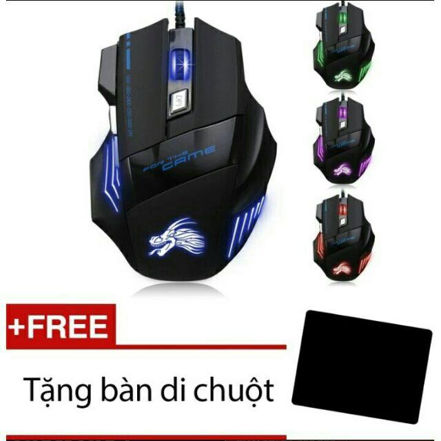 Chuột chơi game Dragon X3 + Tặng bàn di chuột Giá chỉ 48.500₫
