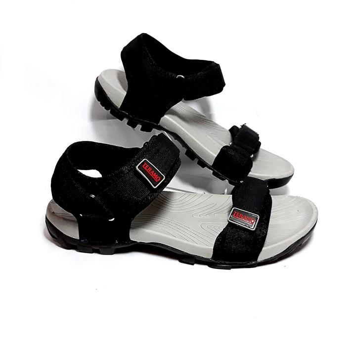 Giày Sandal Teramo quai ngang nam nữ - TRM01 ghi xám