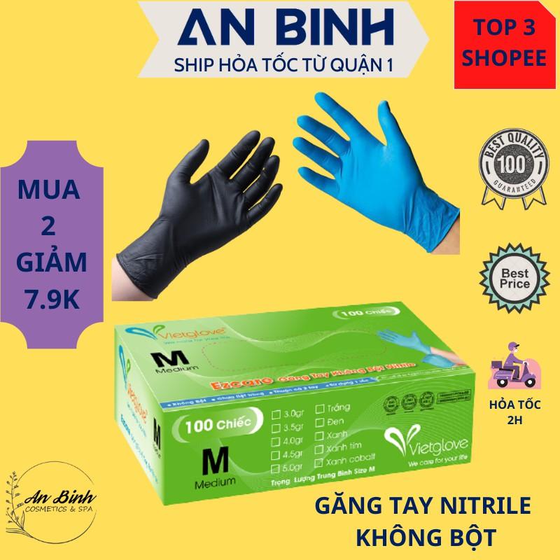 [Đủ Màu]Găng tay y tế không bột VietGlove (Xanh-Đen-Trắng)