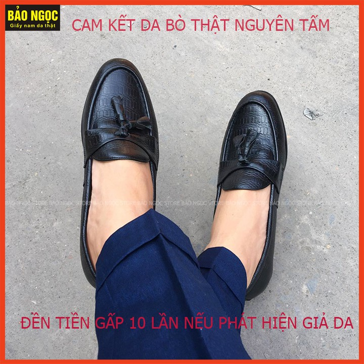 [SIÊU GIẢM GIÁ]  Giày Da Nam - Giày Lười Nam Kiểu Dáng Hàn Quốc - Bảo Hành Da 12 Tháng - Mã K21