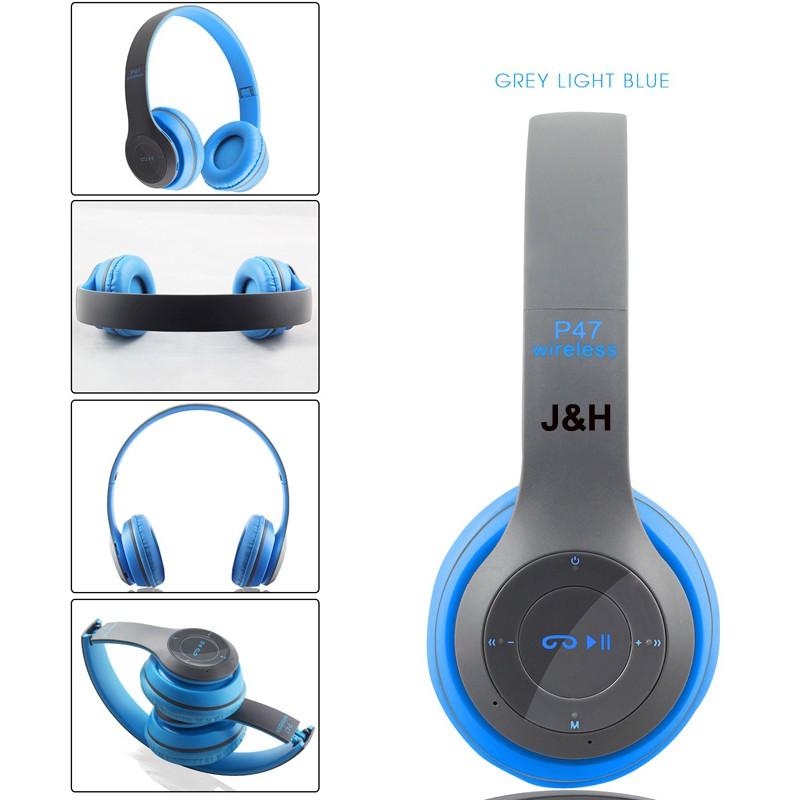 [Free ship HN_HCM] Tai nghe không dây Bluetooth P47 - Thời trang cá tính - Âm thanh cực đỉnh - 3119277 , 1256292495 , 322_1256292495 , 190000 , Free-ship-HN_HCM-Tai-nghe-khong-day-Bluetooth-P47-Thoi-trang-ca-tinh-Am-thanh-cuc-dinh-322_1256292495 , shopee.vn , [Free ship HN_HCM] Tai nghe không dây Bluetooth P47 - Thời trang cá tính - Âm thanh c