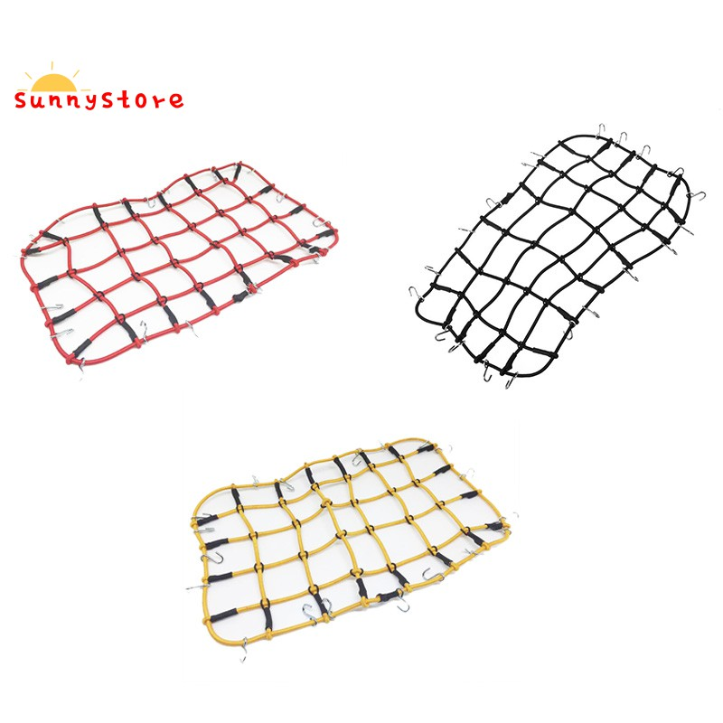 Nylon Rope Luggage Rack Net for 1/10 RC Crawler Car TRX4 Defender Bronco RC4WD D90 D110 Axial Scx10 90046,Red