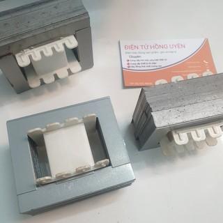 Fe biến áp 22 x 25 (2 bộ). Đầy đủ phe sắt + khuôn nhựa. Fe biến áp quấn máy 12d718-14d718 tần số cao