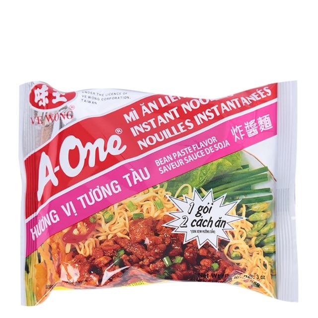 Mì A-One Hương Vị Tương tàu 85g 2 cách ăn