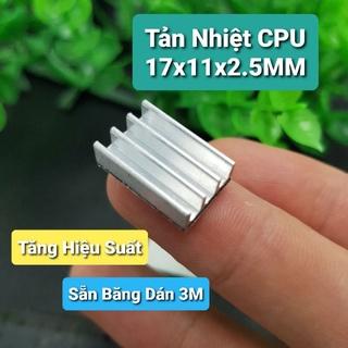 Tản Nhiệt CPU 17x11x2.5MM Sẵn Băng Dán 3M thumbnail