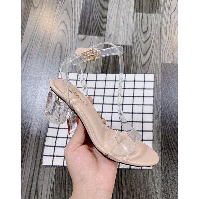 FREE SHIP Giày cao gót / Sandal cao gót nữ quai trong gót 5p sang chảnh