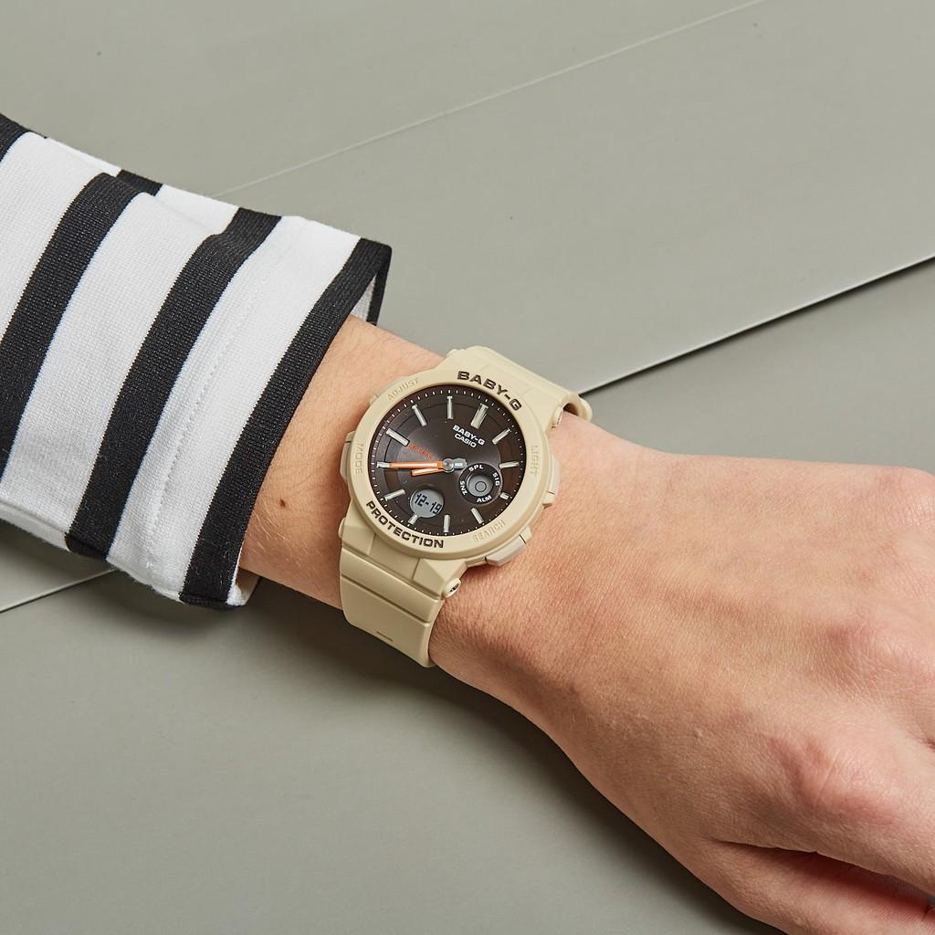 Đồng hồ nữ dây nhựa Casio Baby-G chính hãng Anh Khuê BGA-255-5ADR