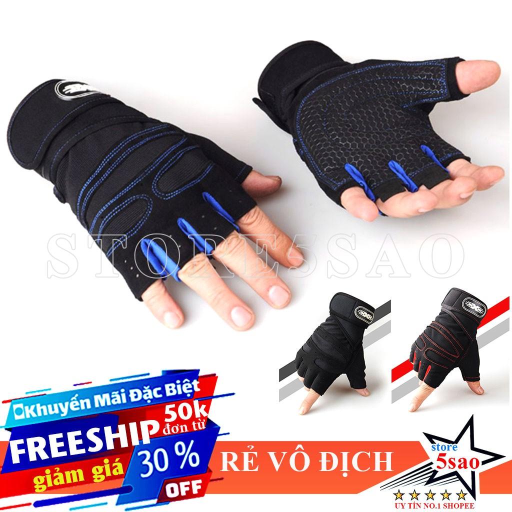 🎁 Găng tay tập gym nam nữ SP11 ❤️ FREESHIP ❤️ Bao tay tập gym có quấn cổ tay - giảm giá rẻ vô địch