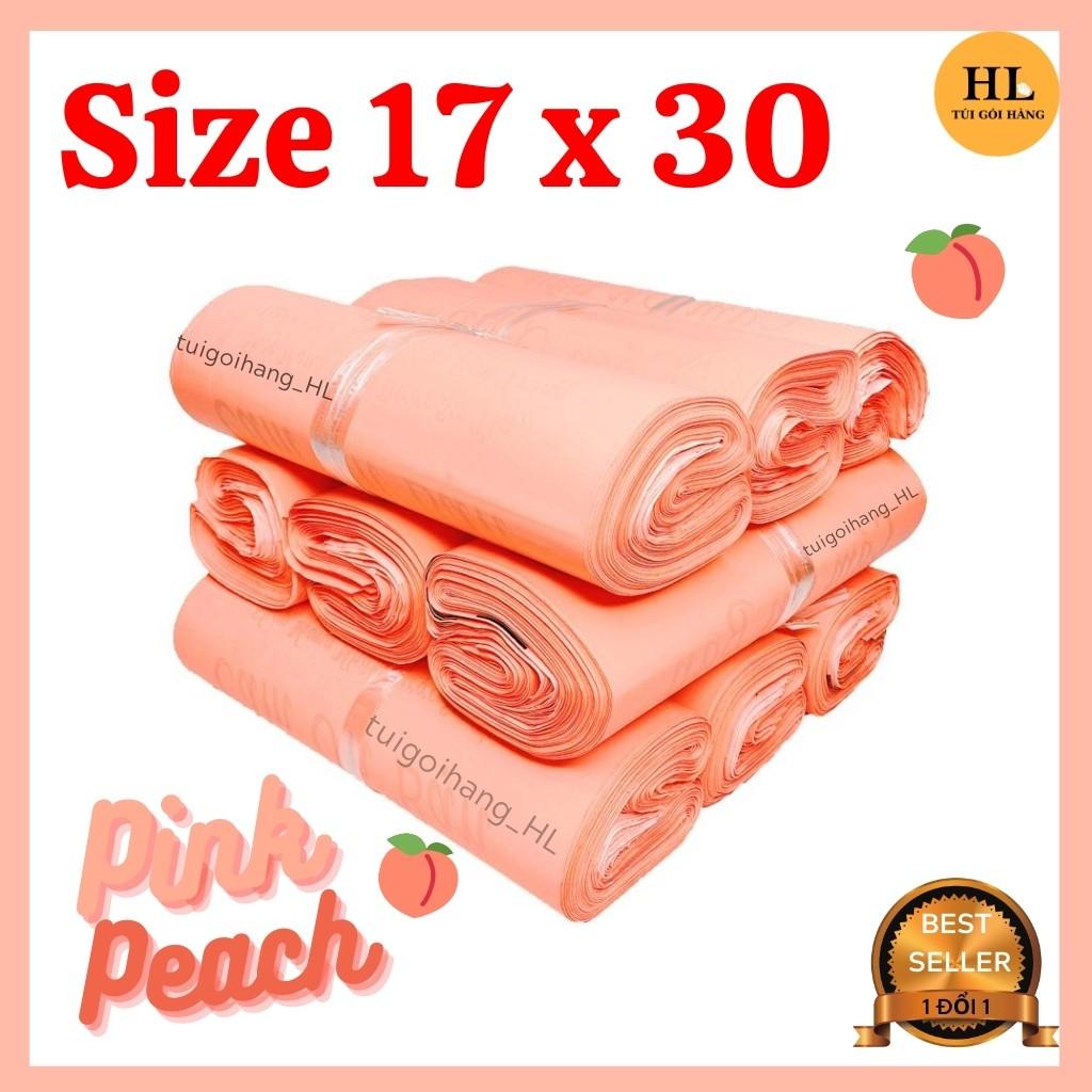 Túi Gói Hàng In Thư Cám Ơn Chất Liệu Cao Cấp Màu Hồng Đào Size 17x30