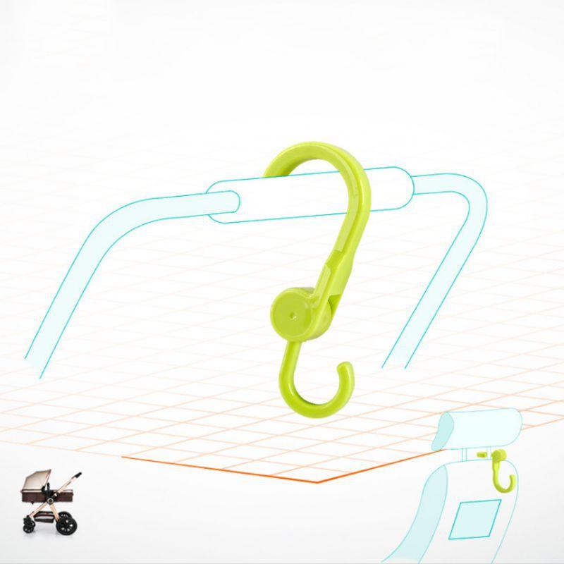 2Pcs Rotatable Storage Hook Hat Towel Coat Organizer Baby Stroller Accessory