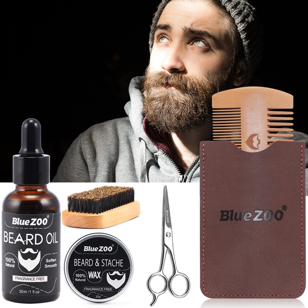 Men Use Comb Mustache Trim Beard Care Set Professional Scissor