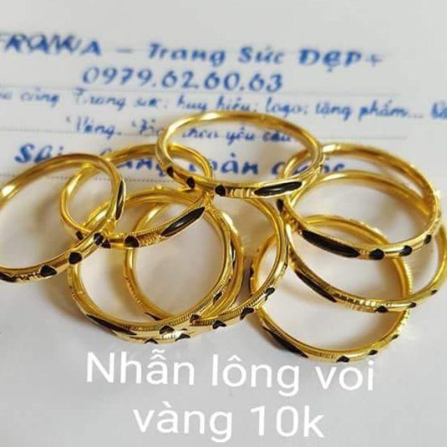 Nhẫn lông đuôi voi vàng 10k - 9940278 , 1061108888 , 322_1061108888 , 350000 , Nhan-long-duoi-voi-vang-10k-322_1061108888 , shopee.vn , Nhẫn lông đuôi voi vàng 10k