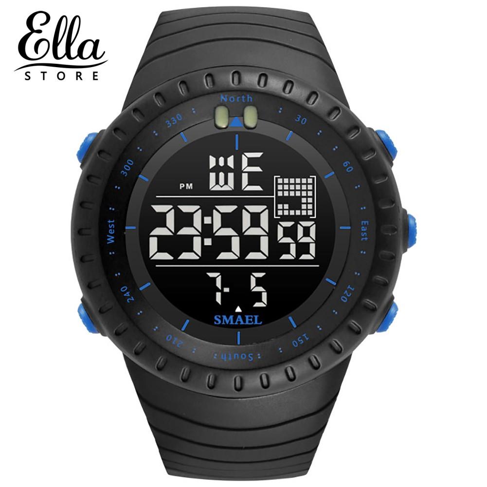 Đồng hồ điện tử kỹ thuật số SMAEL hỗ trợ hoạt động ngoài trời cho nam