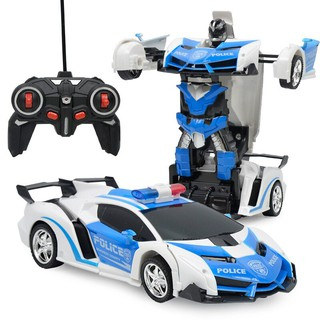 RC 2 in 1 Transformer Car Driving Sports Vehicle Model Deformation Car Remote