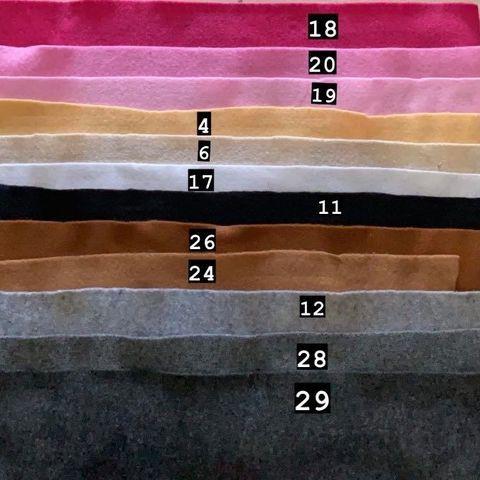VẢI DẠ MỀM, VẢI NỈ MỀM (KHỔ 90X90CM) – 20,000VND/TẤM