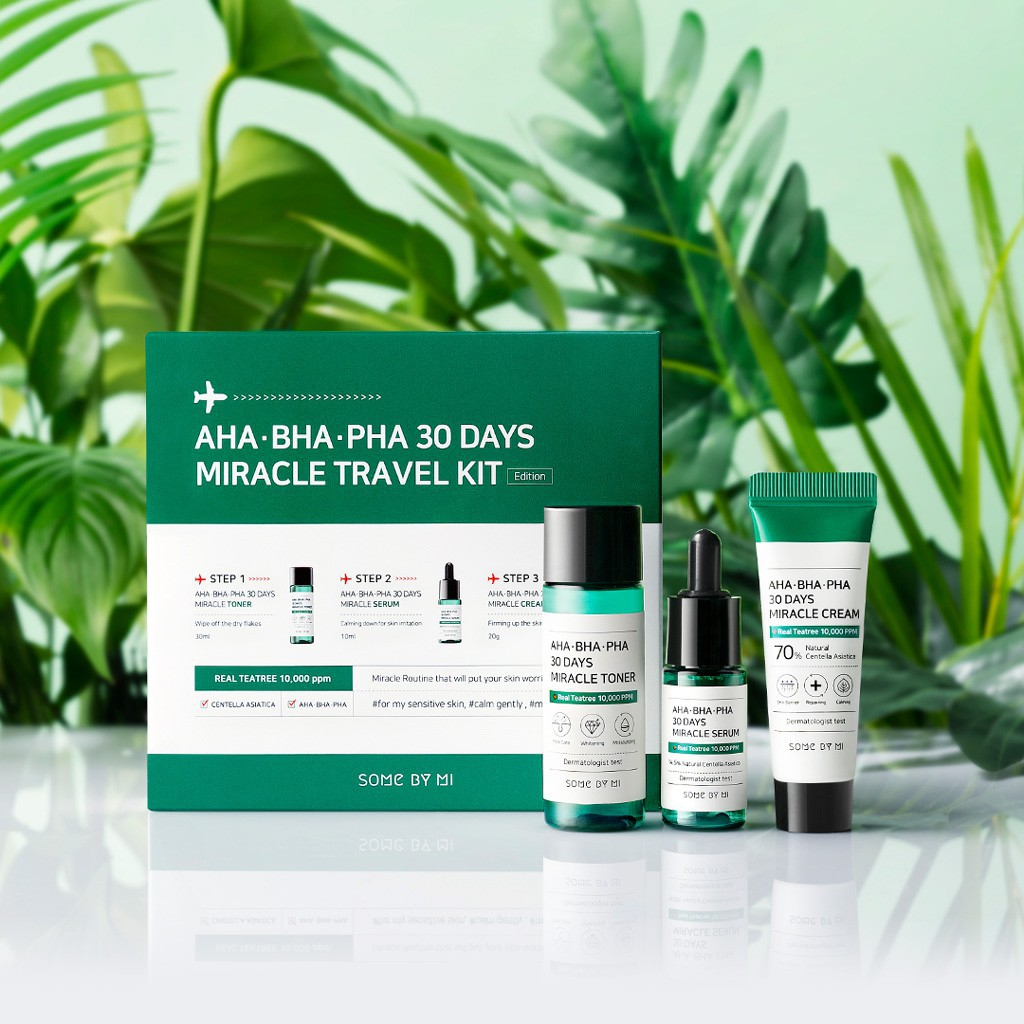 Bộ trị mụn Some By Mi AHA- BHA-PHA 30 Days Miracle Travel Kit 3 Items |  Shopee Việt Nam