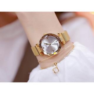 [HÀNG CHÍNH HÃNG] Đồng hồ nữ Bee Sister 1556 dây lụa khoá nam châm mặt 3D
